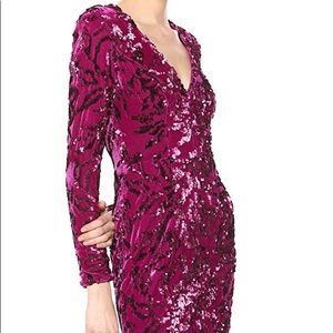 Dress the Population velvet beaded dress